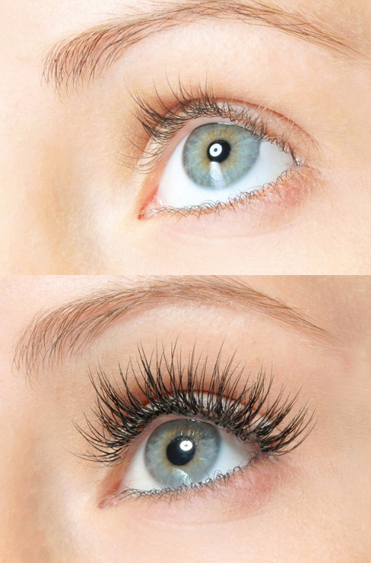eyelash extensions before and after photo